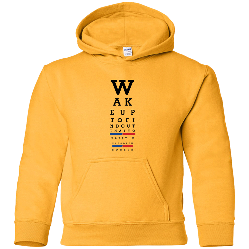 Wake up eye chart Youth Pullover Hoodie