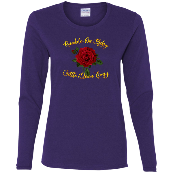 Ramble On Baby  Ladies' Cotton Long Sleeve T-Shirt