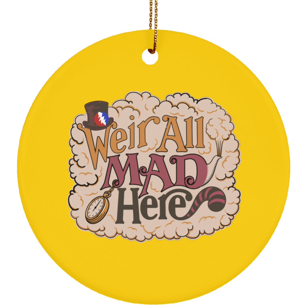 Weir All Mad Circle Tree Ornament