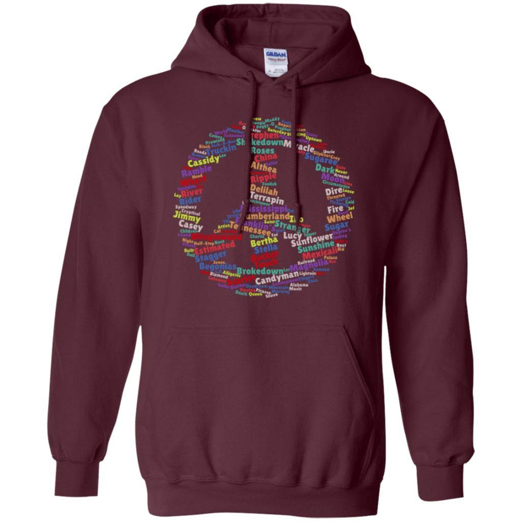 Peace Sign Dead Songs Pullover Hoodie