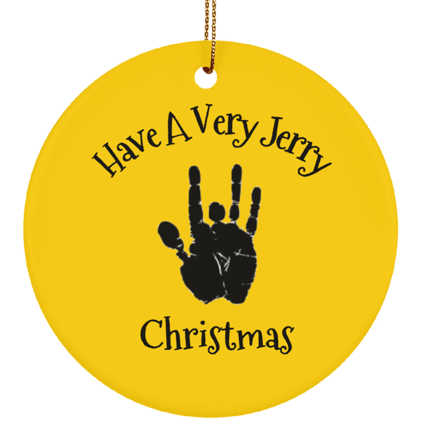 Have A Very Jerry Christmas Tree Ornament Ceramic Circle