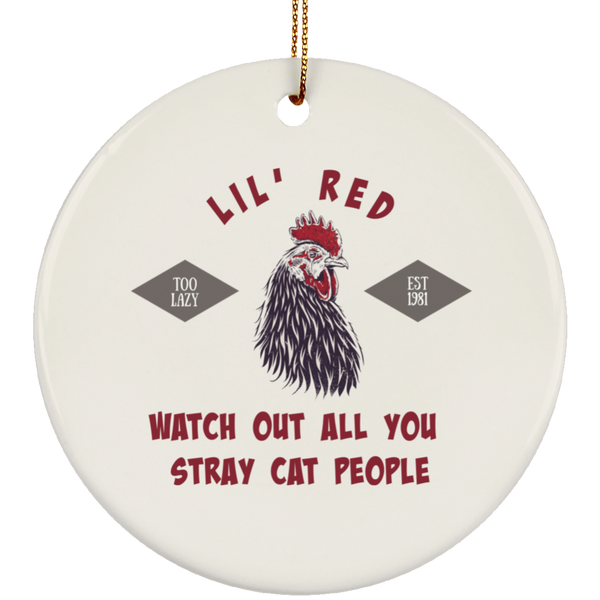 Little Red Rooster Christmas Tree Ornament