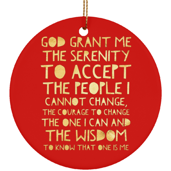 ACA Serenity Prayer Christmas Tree Ornament Circle