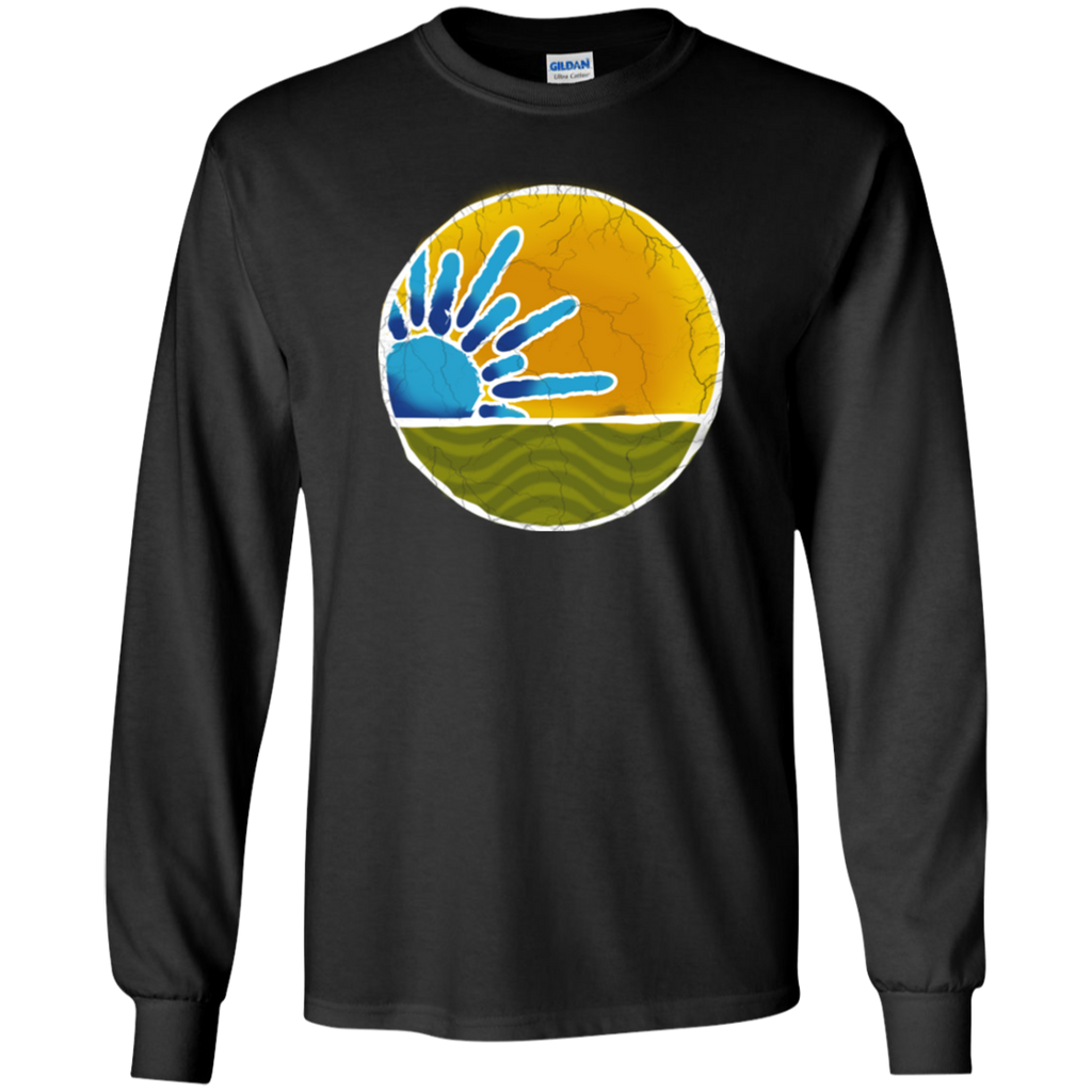 Sky Yellow No Words Long Sleeve Ultra Cotton T-Shirt