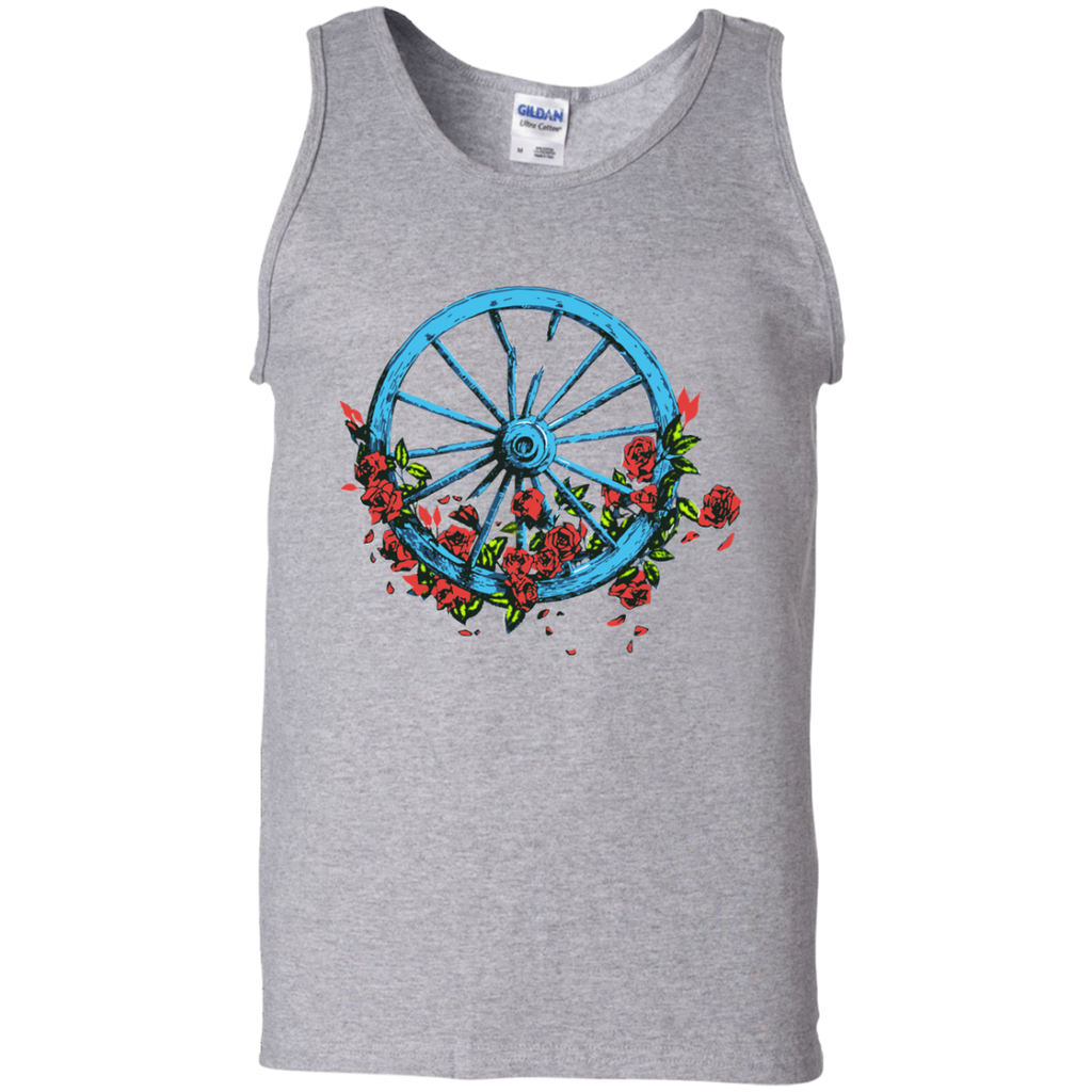 Wheel Roses 100% Cotton Tank Top