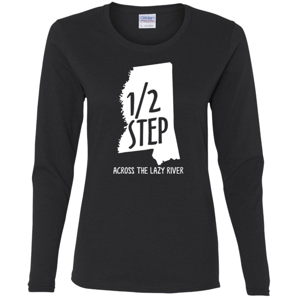 Half Step Mississippi  Ladies' Cotton Long Sleeve T-Shirt