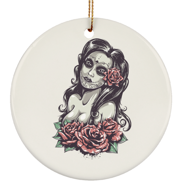 Day of The Dead Sexy Girl Christmas Tree Ornament