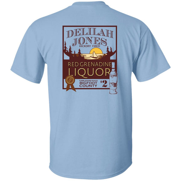 Overstock of Delilah Jones Liquor Ultra Cotton T-Shirt Back Print Mens 3X