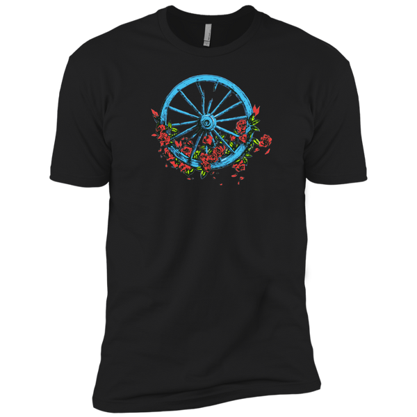 Overstock of Wheel Roses Premium Cotton T-Shirt Mens 3X