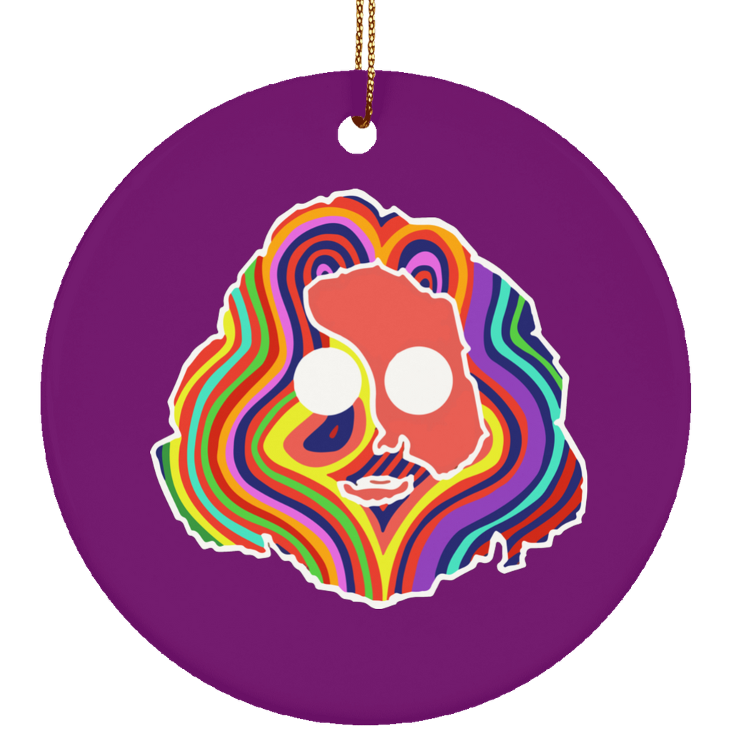 Colorful Jerry Circle Ornament