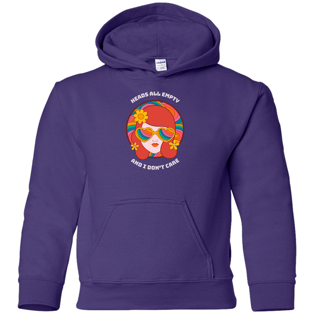 Heads All Empty Circle Youth Pullover Hoodie