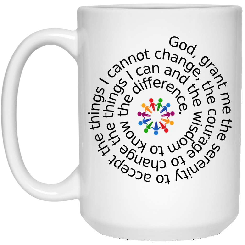 Serenity Prayer 15 oz. White Mug