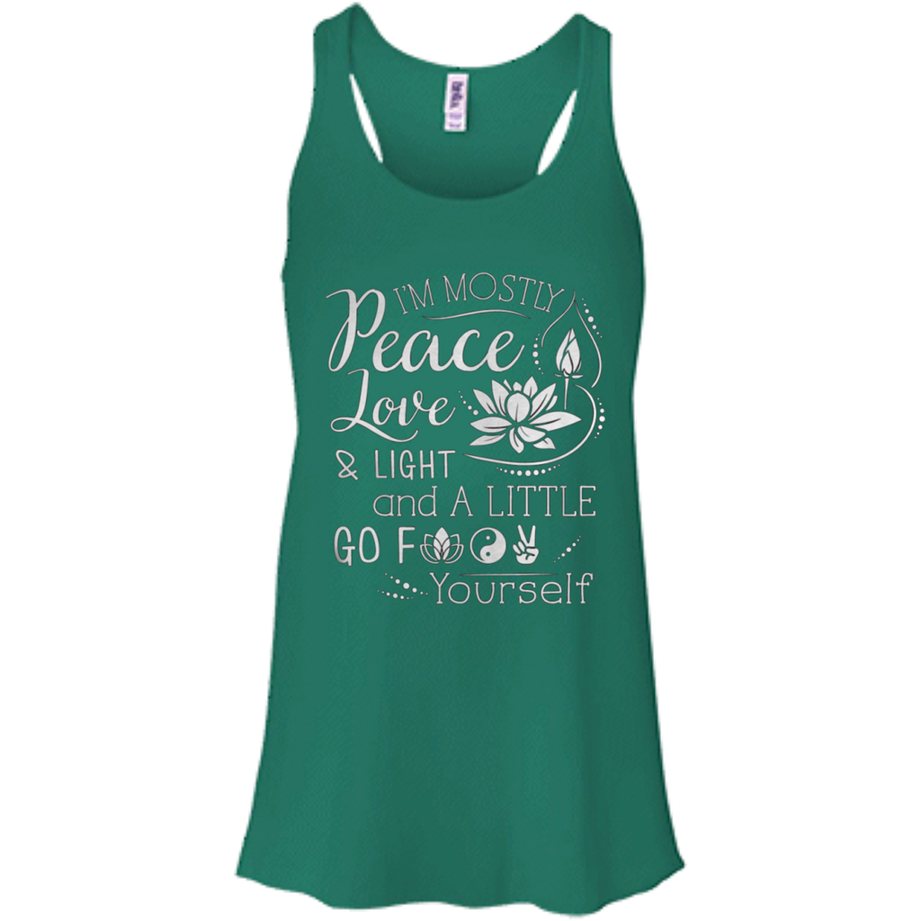 Peace Love Light Flowy Racerback Tank