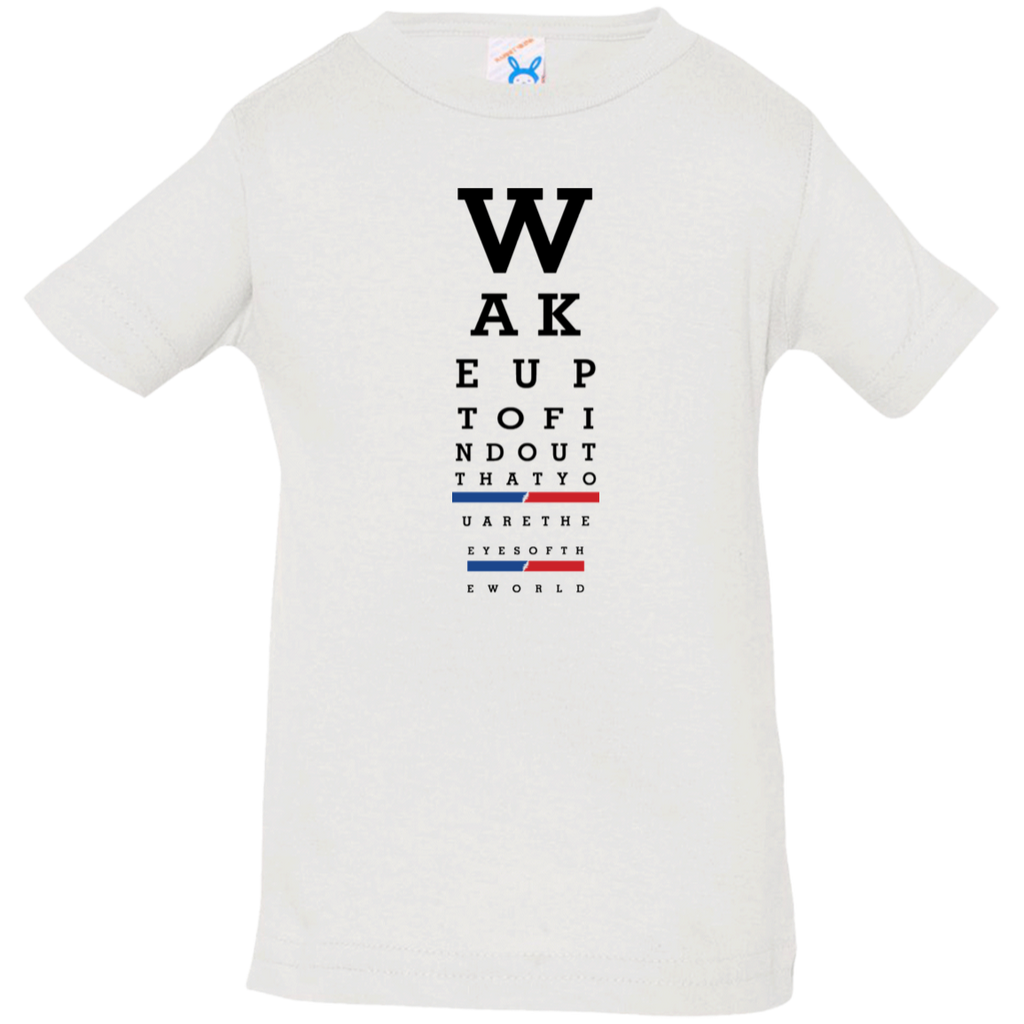 Wake up eye chart Infant Jersey T-Shirt