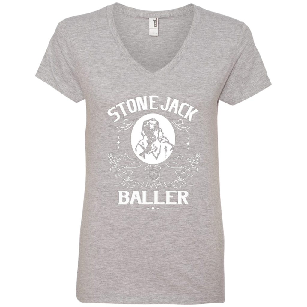 Stone Jack Baller Ladies' V-Neck T-Shirt