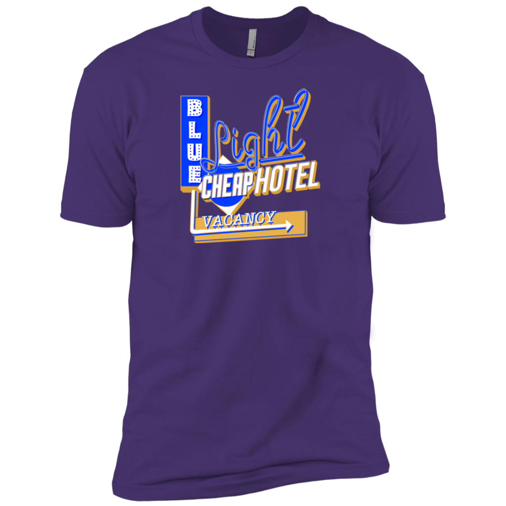 Blue Light Cheap Hotel Premium Cotton T-Shirt