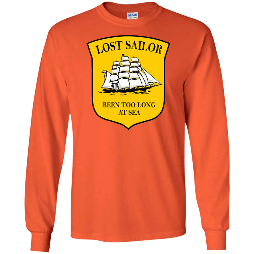 Sailor Long At Sea Long Sleeve Cotton T-Shirt