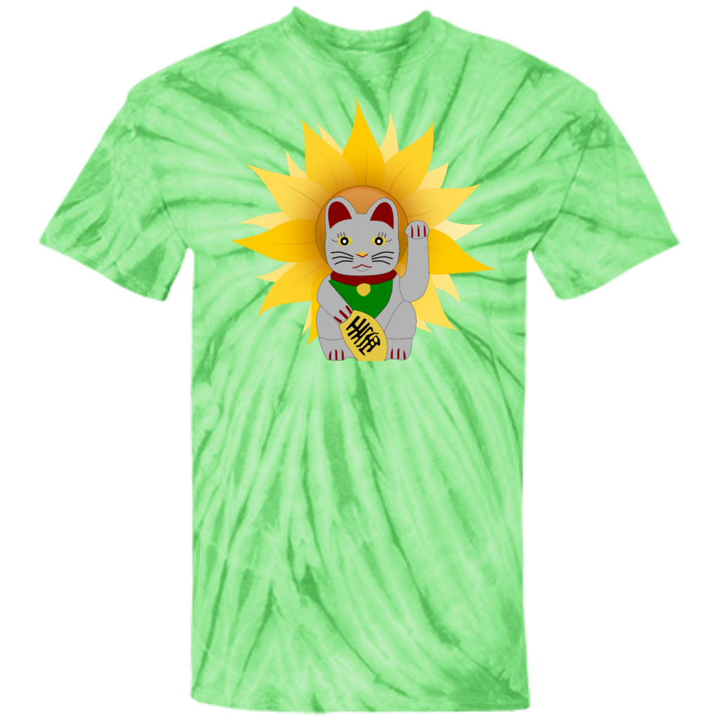 China Cat Sunflower Cotton Tie Dye T-Shirt