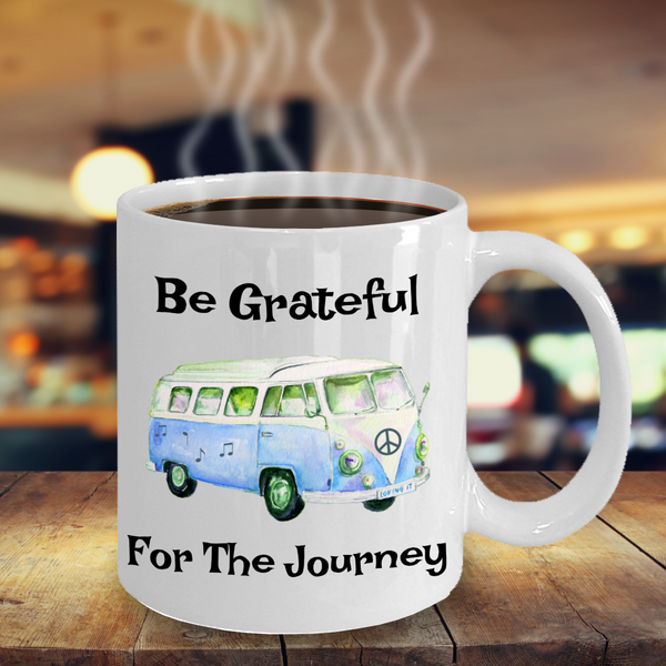 Overstock Be Grateful For The Journey - Hippie Bus Coffee Mug