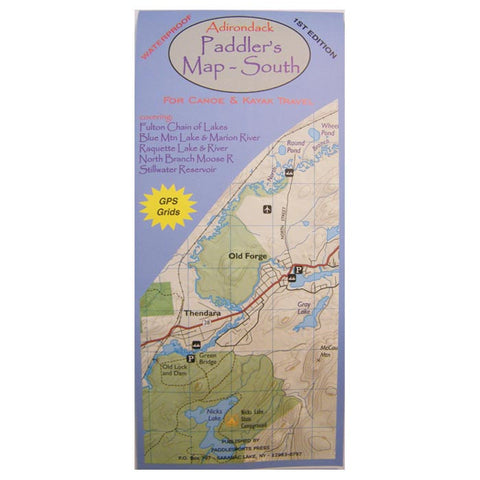 ADK PADDLERS MAP - SOUTH