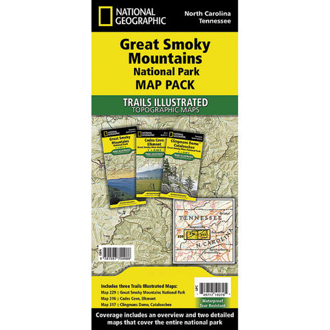 GREAT SMOKY MTNS NP MAP PACK