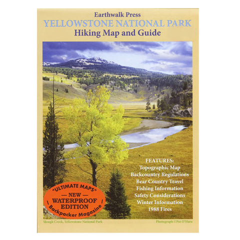 YELLOWSTONE NP HIKING MAP & GD
