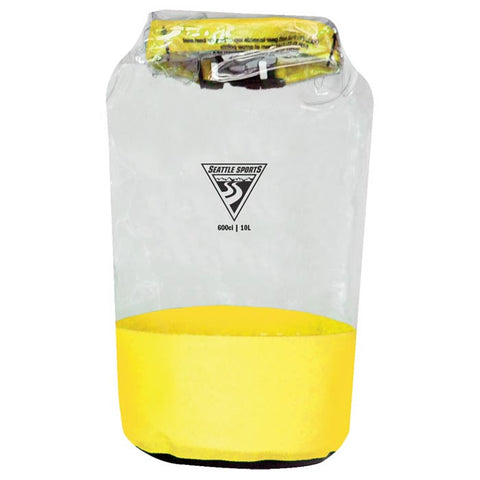 GLACIER CLEAR DRY BAG YLW 10 L