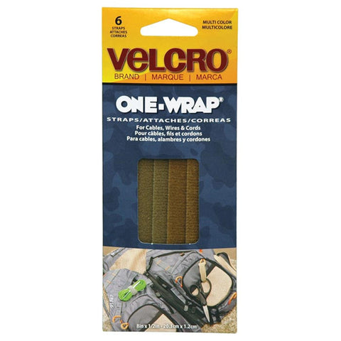 "ONE-WRAP 8"" X 1/2"" ASSORT 6PK"