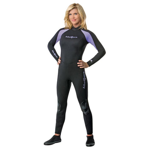 3/2MM WETSUIT WOMENS PUR/BLK 8