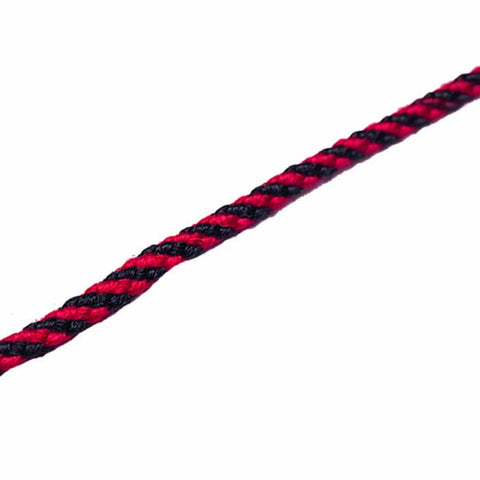 CORD LACE RND RED/BLK 300'