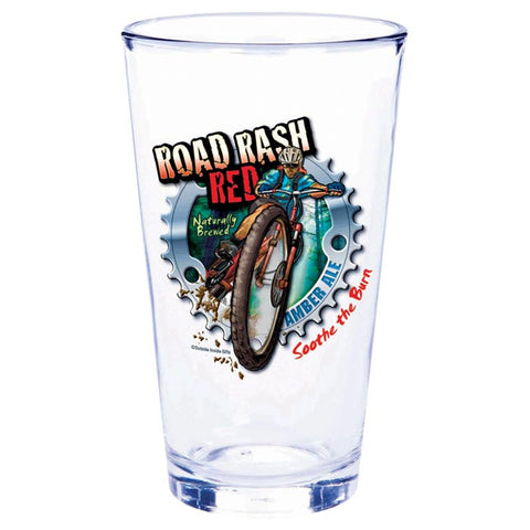 ROAD RASH RED PINT GLASS