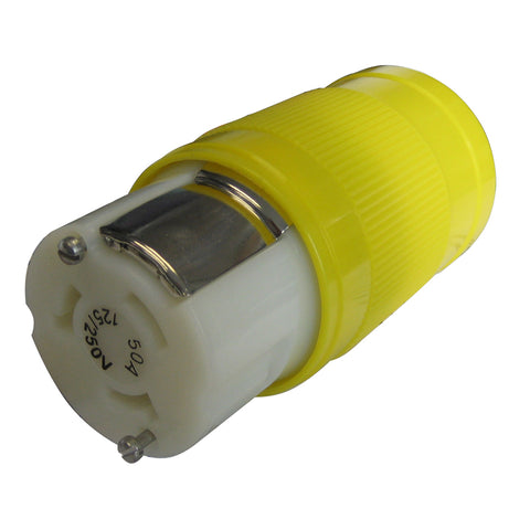 Marinco 50A 125/250V Locking Connector [6364CRN]