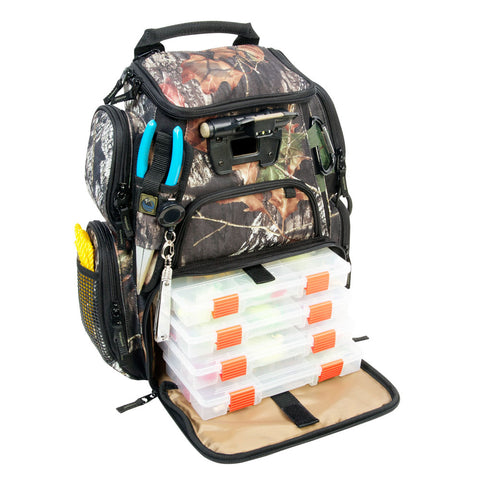 Wild River RECON Mossy Oak Compact Lighted Backpack w/4 PT3500 Trays [WCT503]
