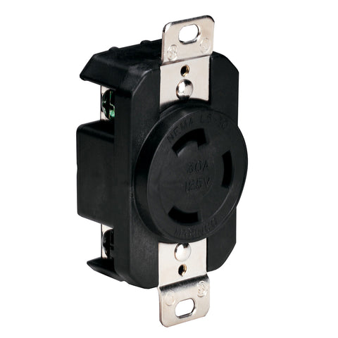 Marinco 305CRRB 125V 30Amp Locking Receptacle - Black [305CRRB]