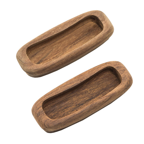 "Whitecap Teak Rectangular Drawer Pull - 3-1/4""L - 2 Pack [60135-A]"