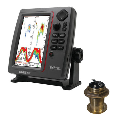 SI-TEX SVS-760 Dual Frequency Sounder 600W Kit w/Bronze 12 Degree Transducer [SVS-760B60-12]
