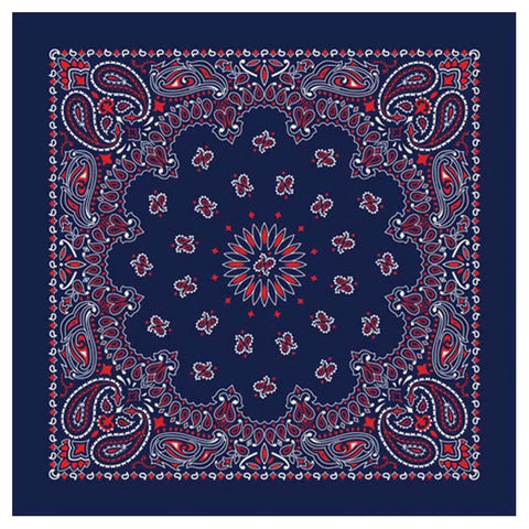 BANDANA PAISLEY BLUE/RED