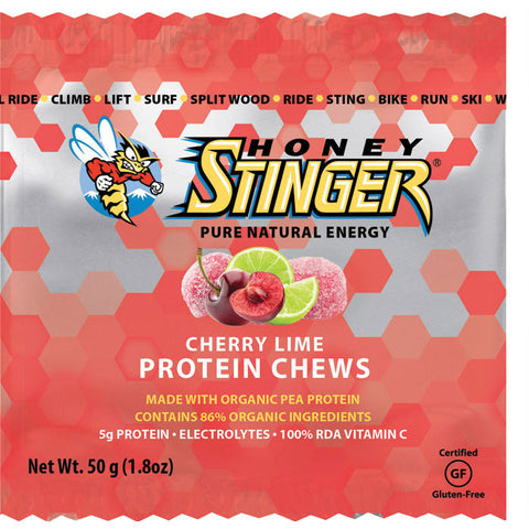 STINGER PROTEIN CHEW CHRY LIME