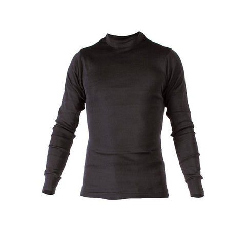 POLY-LITE MENS CREW TOP BLK MD