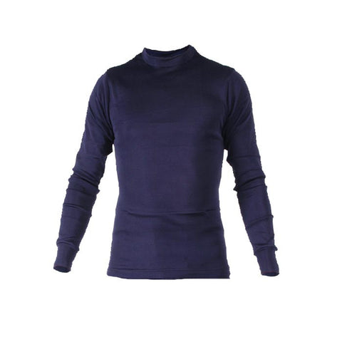 MENS POLYPRO CREW NAVY MD