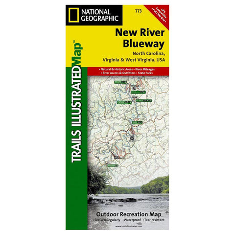 NEW RIVER BLUEWAY MAP #773