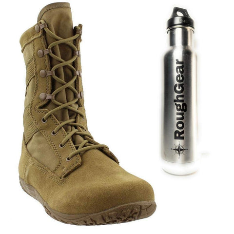 Belleville TR550 Khyber II Lightweight Mountain Hybrid Coyote Brown Boot with Bonus Klean Kanteen Bottle Bundle (2 Items)  …