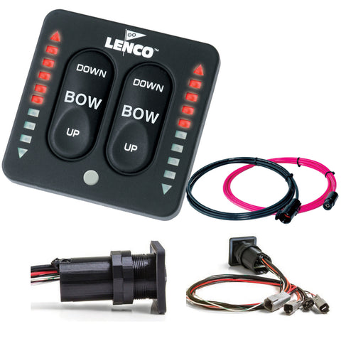 Lenco LED Indicator Integrated Tactile Switch Kit w/Pigtail f/Dual Actuator Systems [15171-001]