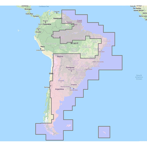 Furuno South America East Vector Charts - 3D Data  Satellite Photos - Unlock Code [MM3-V90-9G0]