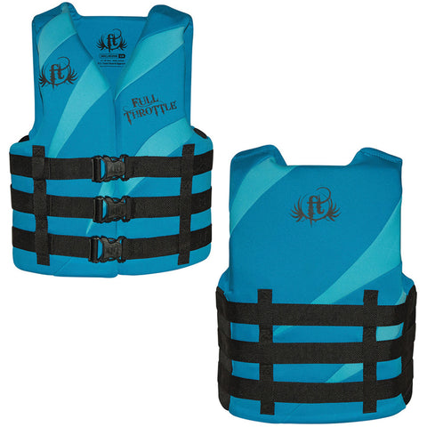 Full Throttle Rapid Dry PFD - Adult L/XL - Aqua/Blue [142000-505-050-16]