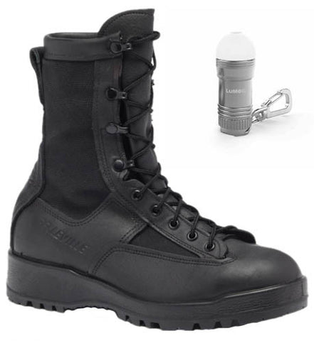 Belleville Waterproof Black Combat & Flight Boots, 700 and BONUS Nebo Light BUNDLE (2 items)