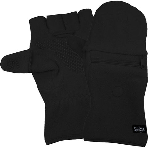 FLEECE MULTI MITTS BLACK