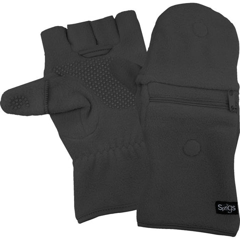 FLEECE MULTI MITTS GRAY