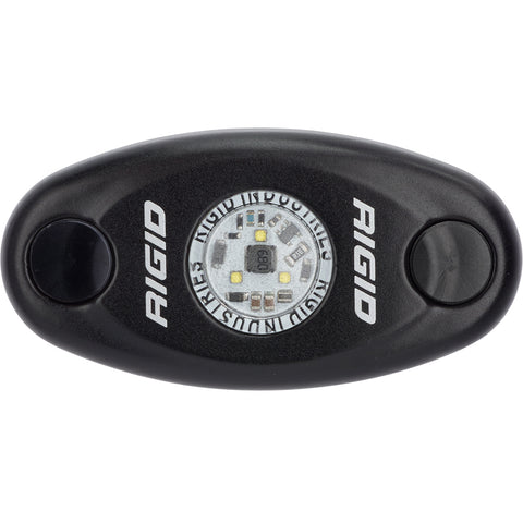 RIGID Industries A-Series Black Low Power LED Light - Single - Blue [480053]