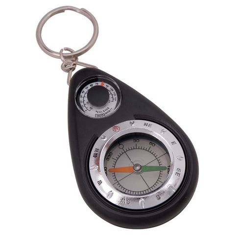 KEYCHAIN COMPASS W/THERMOMETER